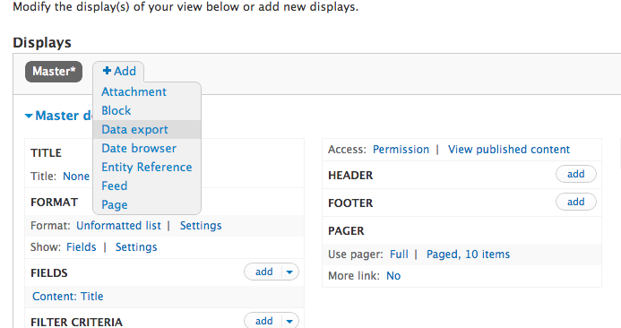 views data export Drupal7